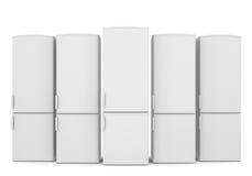 Weiße Kühlschränke Lizenzfreie Stockfotos