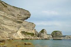 Weiße Klippe von Bonifacio Stockbilder