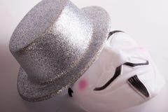 Weiße Maske Stockfoto