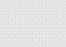 Weiße mit Ziegeln gedeckte Pariser Metro Stockbild