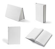 Weiße Schablone des leeren Papiers des Buchnotizbuchlehrbuchs Stockfoto