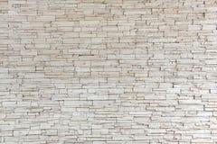 Weiße Steinfliesen-Beschaffenheits-Backsteinmauer Lizenzfreies Stockbild