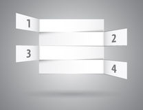Weiße Zusammenfassung nummeriert Reihen in der Perspektive Stockbild