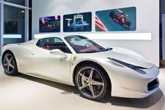 Weißer Ferrari 2 Stockbild