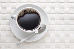 Weißer Kaffeetasse-Hintergrund Lizenzfreie Stockfotos