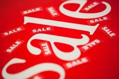 Weißer Markenverkauf im Vektor Stockbilder