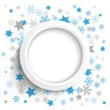 Weißer Ring Christmas Stars Snowflakes Lizenzfreie Stockfotografie