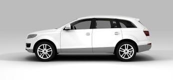Weißes großes Auto Stockfotos