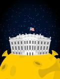 Weißes Haus im Mond US Präsident Residence im Raum Amerikanisches N Stockbilder