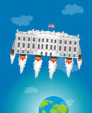 Weißes houseim Raum Rakete Turbo USA Präsidenten Residence ame Lizenzfreie Stockfotografie