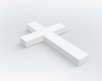 Weißes Kreuz Stockbild