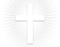 Weißes Kreuz - größer Stockfoto