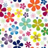 Weißes nahtloses Blumenmuster Lizenzfreie Stockfotos