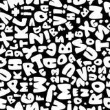 Weißes nahtloses Muster des englischen Alphabetes Stockfoto