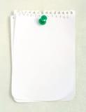 Weißes Notizbuch-Papier Stockfoto
