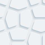 Weißes perforiertes Papier Stockfotos