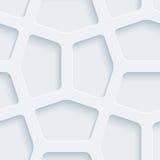 Weißes perforiertes Papier Stockbild