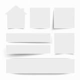 Weißes Rahmen-Fahnen-Haus Stockbilder