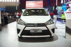 Weißes Toyota-yaris Auto Stockfoto