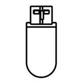 Weißes und schwarzes Portable usb-Gedächtnis lokalisiert Lizenzfreie Stockbilder