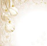 Weißes Weihnachtshintergrund Lizenzfreie Stockbilder