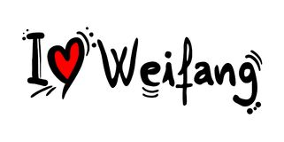 Weifang city love message. Creative design of Weifang city love message Royalty Free Stock Images