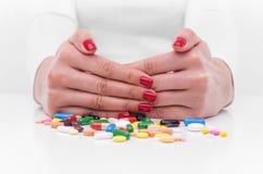 Weigering van pillen stock afbeeldingen