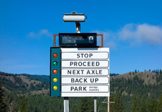 A weigh station for trucks in the canadian rockies Royalty Free Stock Photos
