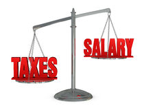 Weigh taxes and salary Royalty Free Stock Image