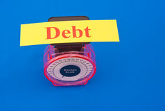 Weighed down by debt Royalty Free Stock Image