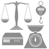 Weighind Scales Icons Stock Images