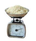 Weighing baking ingredients Stock Photography