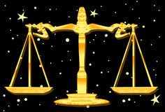 Weighing The Balance The Libra Way. An image of the zodiac sign Libra or the weighing scales Royalty Free Stock Photos