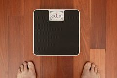 Weighing In Royalty Free Stock Image