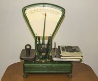 Old scales royalty free stock photography