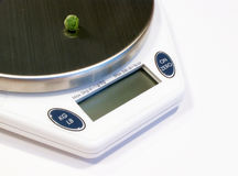 Weighing diet food Stock Photography