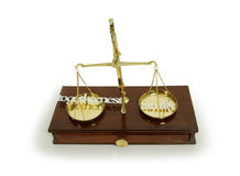 Weighing family and togetherness Royalty Free Stock Photos