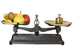 Weighing of fruits Royalty Free Stock Photos