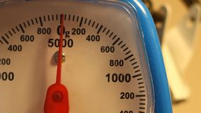 Weighing 50g stock footage