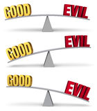 Weighing Good And Evil Set stock illustration