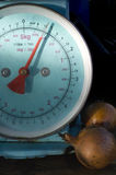 Weighing Onions Stock Photo
