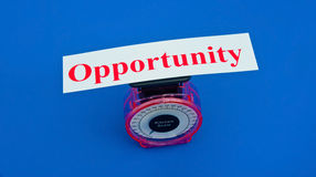Weighing the opportunity Stock Images