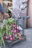 Fresh red onions at the market Royalty Free Stock Photo