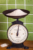 Weighing Rice with Mechanical Scales Stock Images