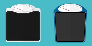 Weighing scale flat vector. Weighing scale set flat vector n Royalty Free Stock Images