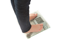 Weighing scales isolated Royalty Free Stock Image