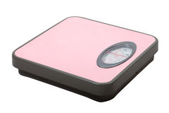 Weighing scales  over white Royalty Free Stock Images