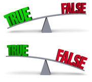 Weighing True Or False Set Royalty Free Stock Photos