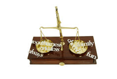 Weighing values Royalty Free Stock Photography