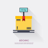Weighing. Warehouse icons logistic blank and transportation, sto Royalty Free Stock Photography
